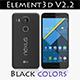 Element3D - LG Nexus 5X Black - 3DOcean Item for Sale