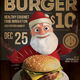 Christmas Burger Flyer - GraphicRiver Item for Sale