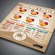 Food Menu Flyer Templates - Burger Joint - GraphicRiver Item for Sale