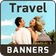 Travel Banner Set - 15 Sizes - CodeCanyon Item for Sale