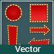 Vector Volumetric Signs with Electric Bulbs - GraphicRiver Item for Sale