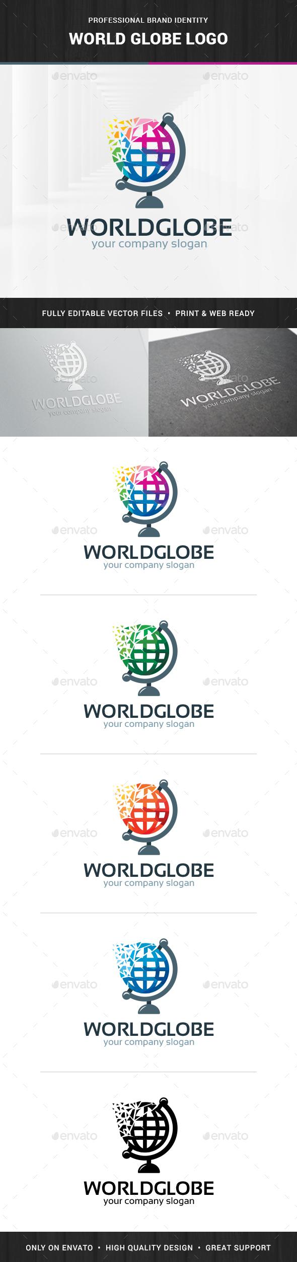 World Globe Logo Template