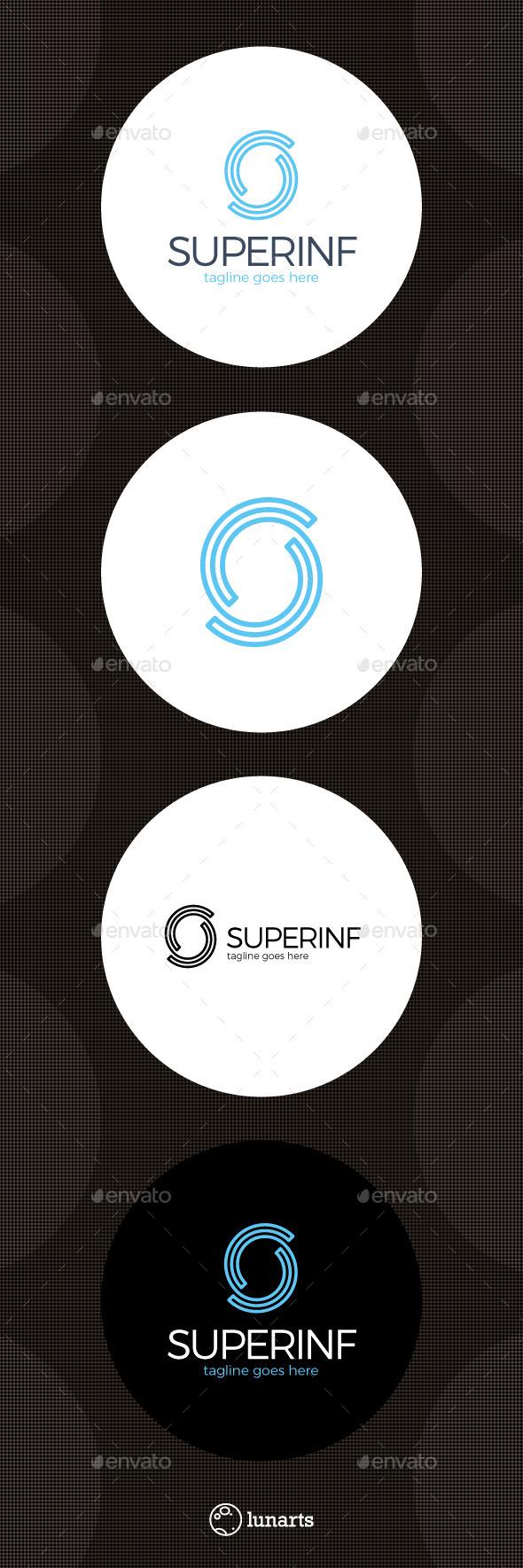 Infinity Line Logo - Letter S