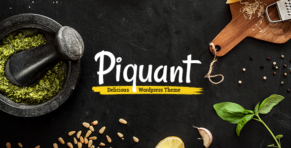 Piquant - Restaurant, Bar & Café Theme