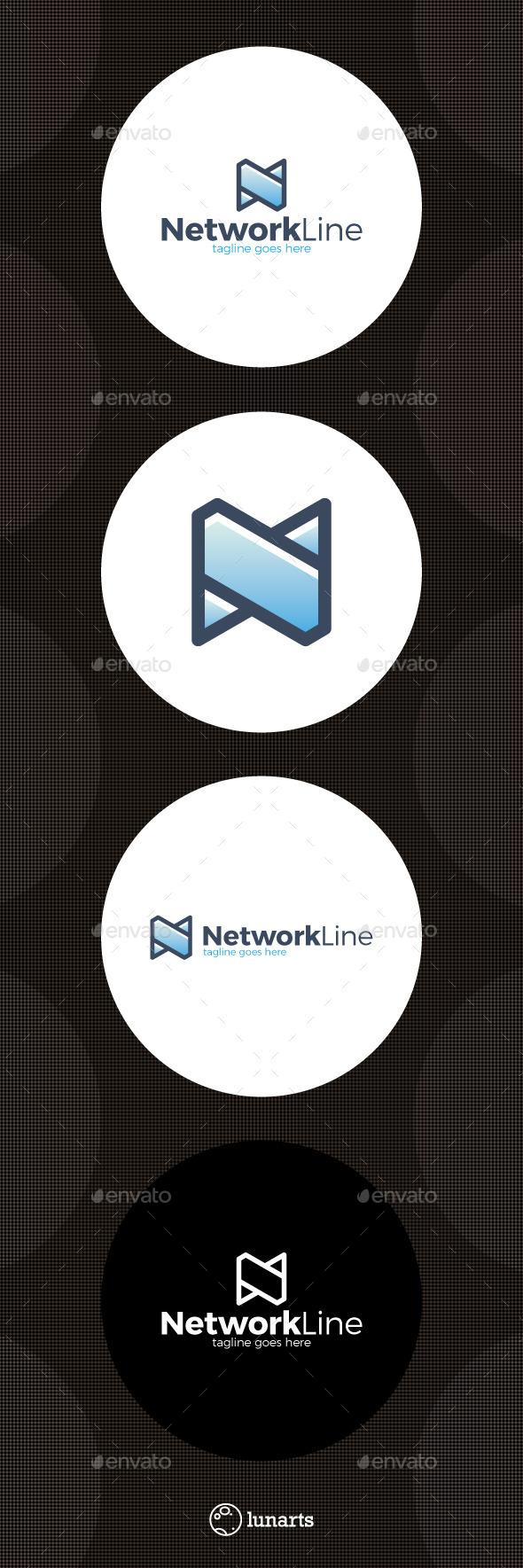 Network Logo - Letter N