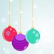 Hanging Christmas Balls - GraphicRiver Item for Sale
