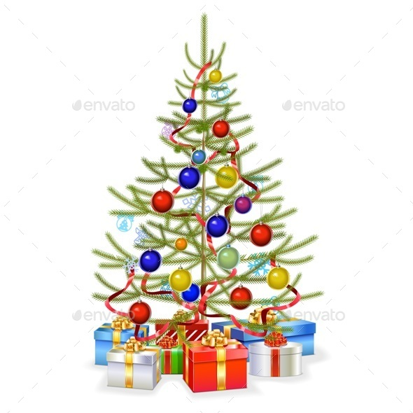 Christmas Fir with Gifts
