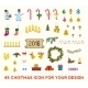 Christmas Pixel Icons Set. - GraphicRiver Item for Sale