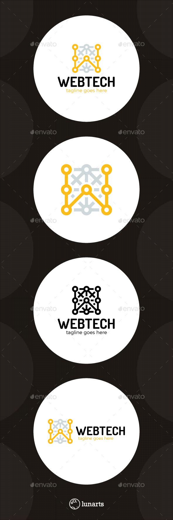Web Tech Logo - Letter W