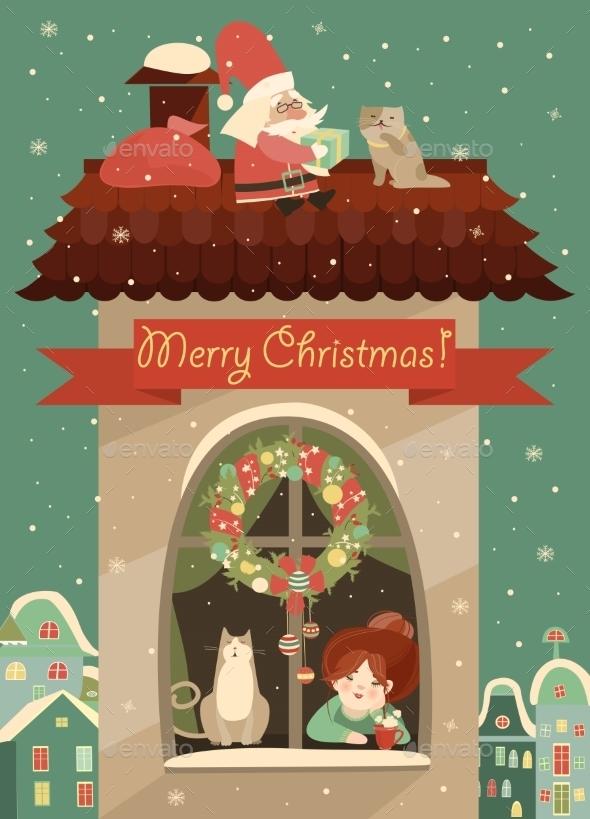 Santa Claus Gives Christmas
