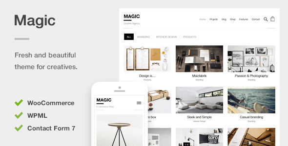 Magic - A Creative Portfolio & Ecommerce WordPress Theme