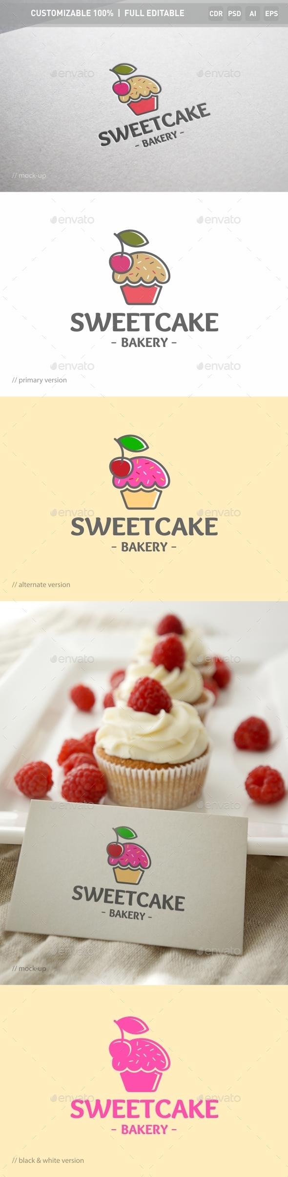 Sweet Cake Logo Template