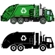 Garbage Trucks And Different Types Of Dumpsters - GraphicRiver Item for Sale