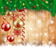 Christmas Illustration with Baubles and Snowflakes - GraphicRiver Item for Sale