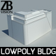 Lowpoly Hotel - 3DOcean Item for Sale