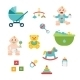 Baby And Child Related Icons, Illustrations - GraphicRiver Item for Sale