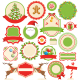 Set of Flat Christmas Winter Labels Icons - GraphicRiver Item for Sale