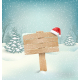 Winter with Wooden Signpost and Santa Hat - GraphicRiver Item for Sale