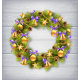 Wreath with Pine Branches, Balls, Cones and Stars  - GraphicRiver Item for Sale
