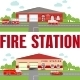 Fire Station Emergency Concept.  - GraphicRiver Item for Sale