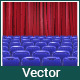 Hall with Empty Chairs and Red Curtain - GraphicRiver Item for Sale