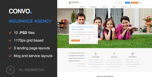 Convo - Insurance Agency PSD Template