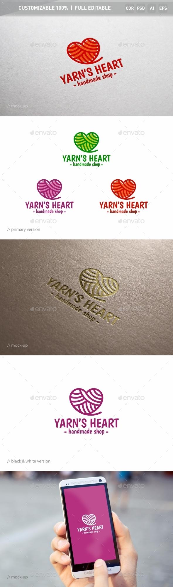 Yarn's Heart Logo Template