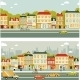 Two City Street Backgrounds - GraphicRiver Item for Sale
