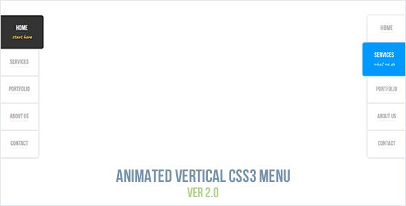 Animated Vertical CSS3 Menu