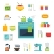 Kitchen Themed Illustration and Icons - GraphicRiver Item for Sale