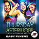 Thursday Afterwork Flyer Template - GraphicRiver Item for Sale