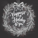 Happiest of Holiday to You Calligraphy Quote - GraphicRiver Item for Sale