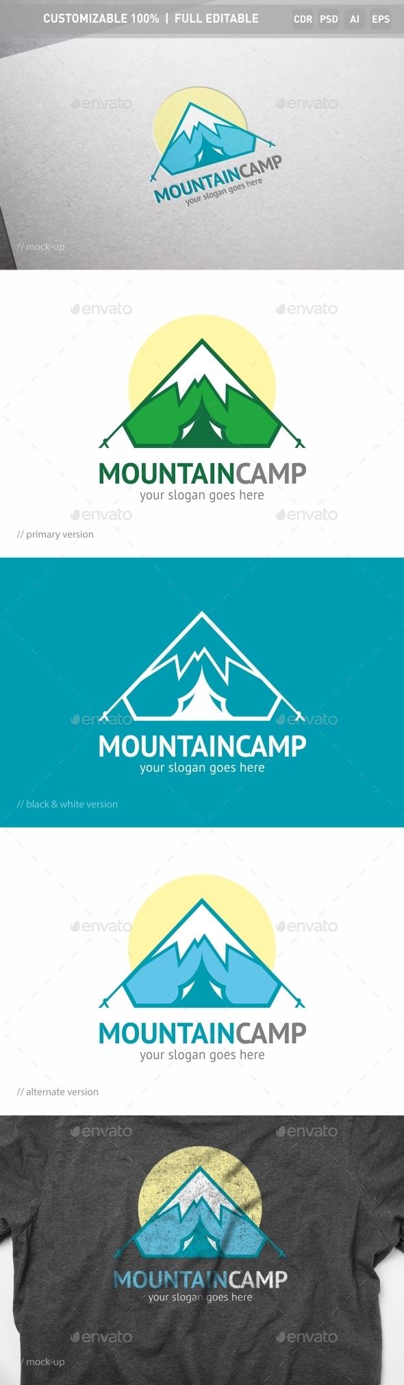 Mountain Camp Logo Template