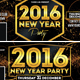 New Year Party Timeline Covers, - GraphicRiver Item for Sale