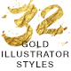 Goldish - Gold Styles For Illustrator - GraphicRiver Item for Sale