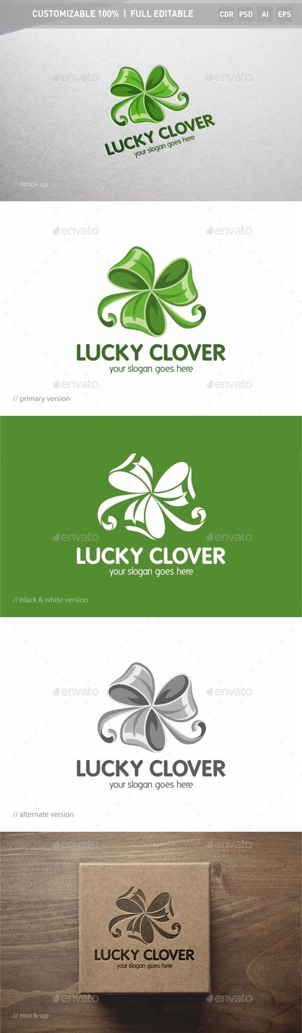 Lucky Clover Logo Template