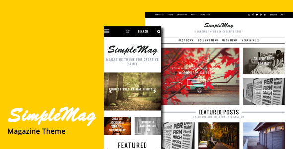 SimpleMag - Magazine Drupal 7 and 8 Theme