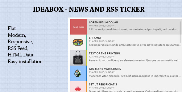 Ideabox - News & RSS Ticker