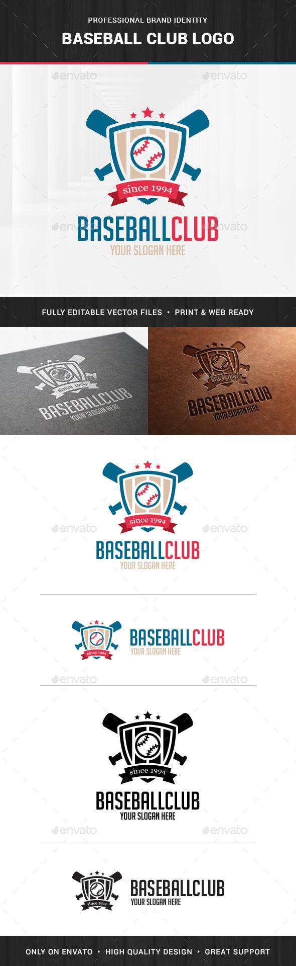 Baseball Club Logo Template