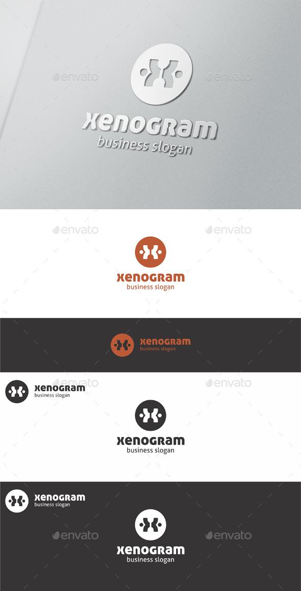 Xenogram X Symbol Logo