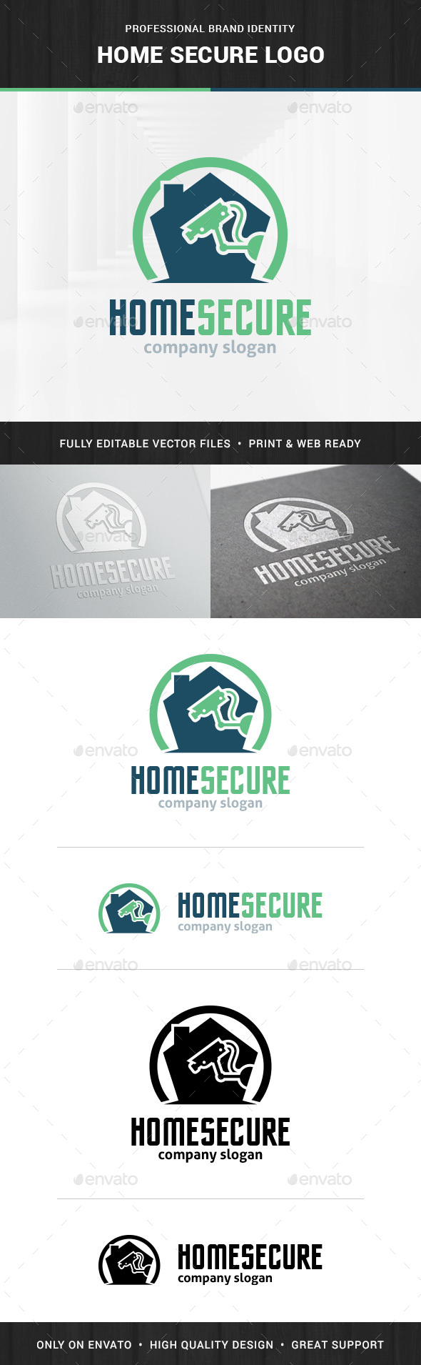 Home Secure Logo Template