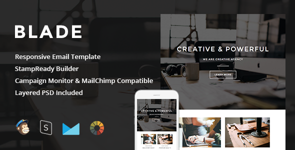 Blade - Responsive Email + StampReady Builder