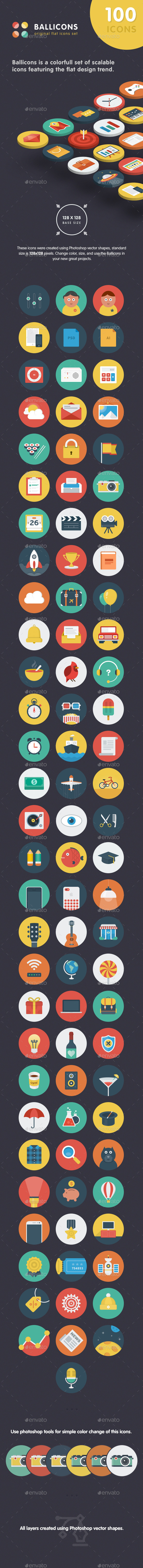 Ballicons Flat Icons Collection