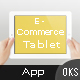 E-Commerce Flat Tablet and Pad App Dashboard - GraphicRiver Item for Sale