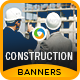 HTML5 Construction Banners - GWD - 7 Sizes