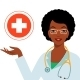 Doctor Woman African American - GraphicRiver Item for Sale