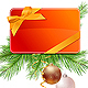 Christmas Presents and Cards with Fir Branches and - GraphicRiver Item for Sale