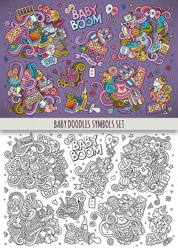 Baby Doodles Symbols & Objects Set