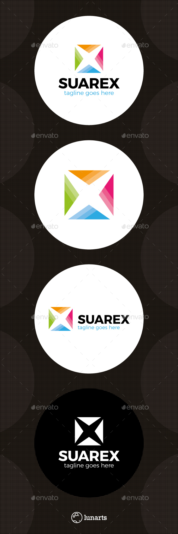 Color Square Letter X Logo