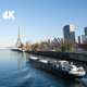 A View on Eiffel Tower in Paris and Seine River - VideoHive Item for Sale